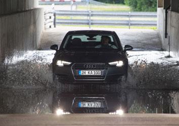 La vida de un coche en modo acelerado: Test Inka número 100 de Audi