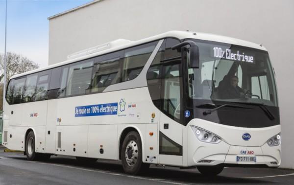 Primer autocar BYD 100% eléctrico a prueba en Francia