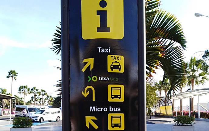 Titsa mejora su información en Aeropuerto Sur