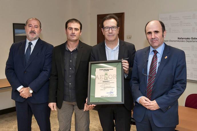 Transbidasoa recibe el certificado AENOR