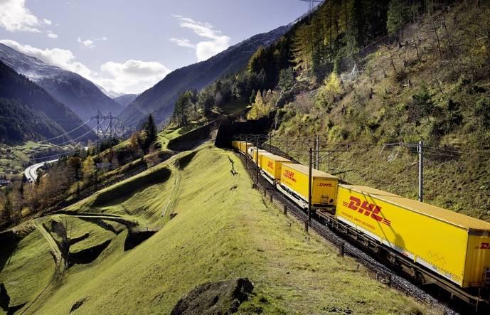 Tren refrigerado de DHL.