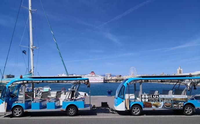 El tren turístico del Puerto de Málaga.