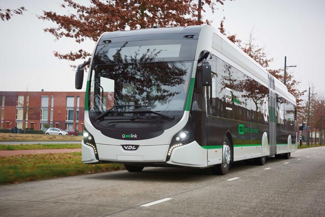 Qbuzz encarga diez autobuses eléctricos articulados de VDL para Groningen