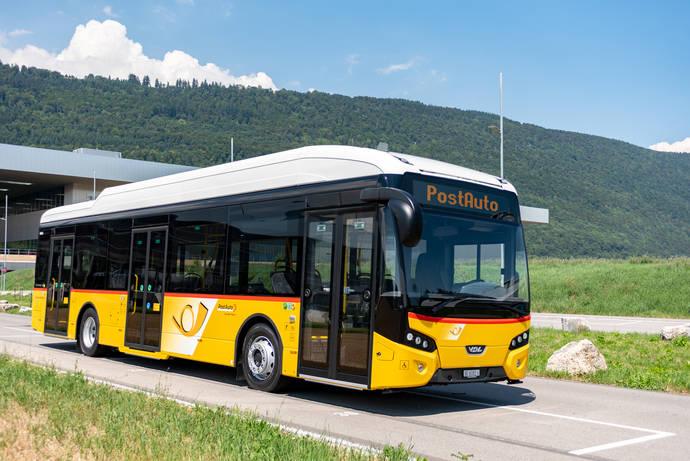 Primer VDL Citea SLF-120 Electric para PostBus y Suiza