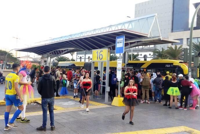 Guaguas transporta 169.685 viajeros durante el Carnaval