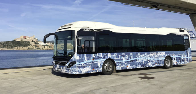 Ibiza concluye con éxito las pruebas del autobús Volvo 7900 híbrido