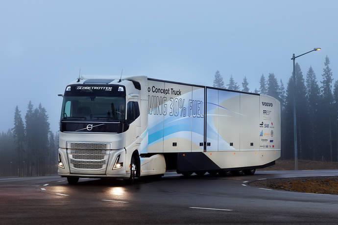 Volvo Trucks prueba una cadena cinemática híbrida para larga distancia