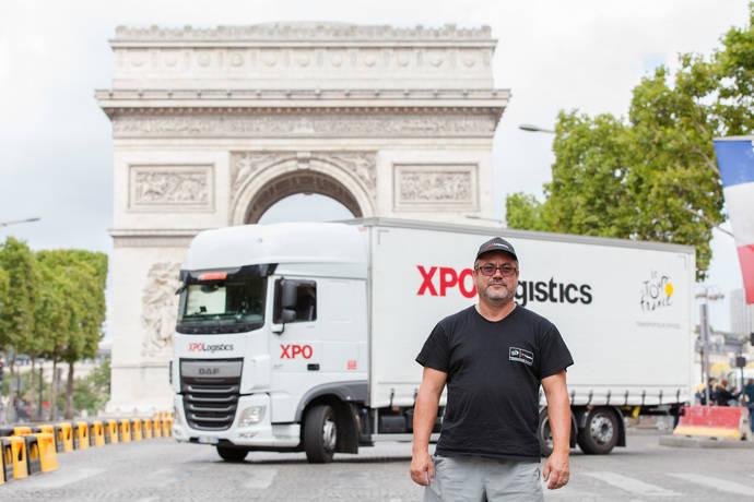 Los conductores de XPO Logistics, a la altura del Tour de Francia