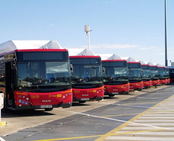 Tussam consigue más de 29 millones de viajeros en primer cuatrimestre