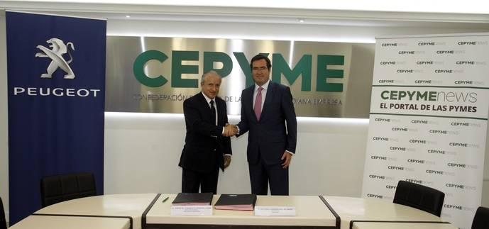 Cepyme y Peugeot colaboran en pro de la movilidad de las pymes