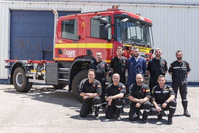 Scania ayuda a UME en preparación para la campaña de Incendios Forestales