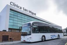 Autobús eléctrico en pruebas en la flota del TUC de Pamplona