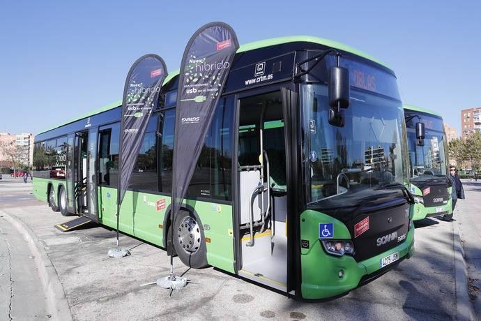 La Comunidad de Madrid incorpora 13 nuevos autobuses híbridos