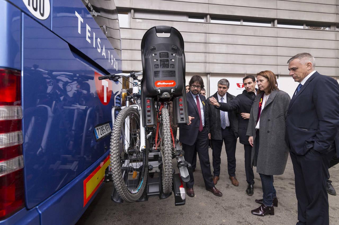 Girona incorpora el primer sistema porta bicicletas