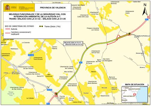 El Gobierno autoriza la licitación de las obras del proyecto de la A-7