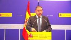 El ministro de Transportes, Movilidad y Agenda Urbana, José Luis Ábalos, presentando los Presupuestos de su Ministerio para 2021.