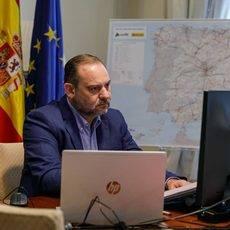 El ministro José Luis Ábalos, durante su intervención en la jornada de la UIMP.