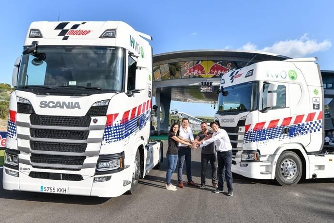 Scania es proveedor de camiones sostenibles MotoGP en 2018 y 2019