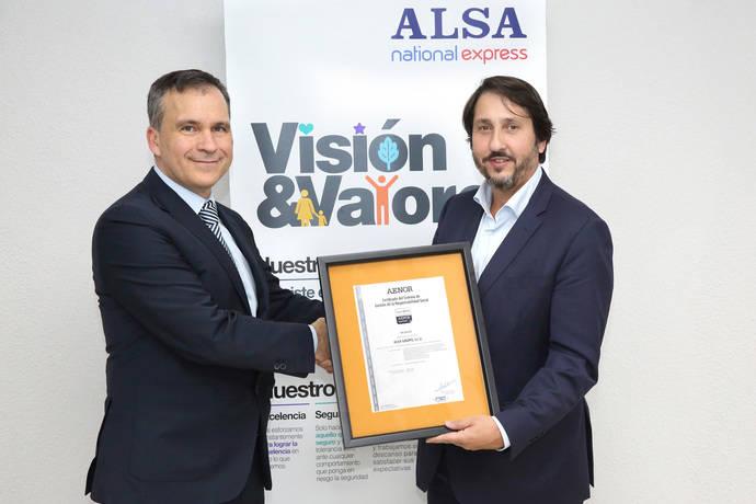 Alsa obtiene el certificado de Responsabilidad Social IQNet SR10 de Aenor
