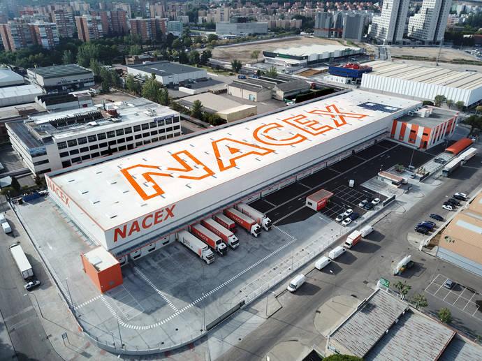 Vista aérea de la plataforma logística de Nacex en Coslada.