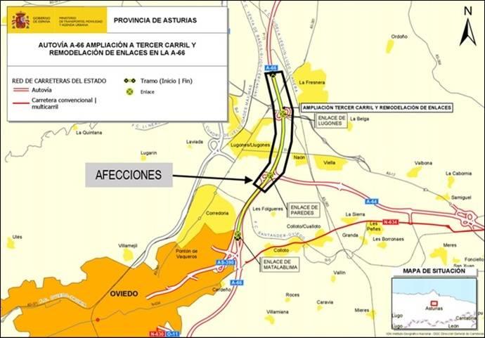 Obras del tercer carril de la A-66 afectarán al tráfico