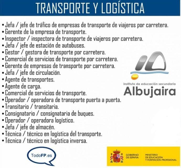 Nuevo grado superior de Transporte y Logística en el IES Albujaira
