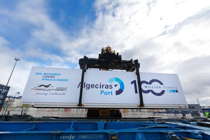 Algeciras supera los 100 millones de toneladas en 2017