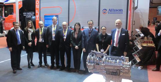 Representantes de Allison, MAN y Rosembauer, ayer en Madrid.