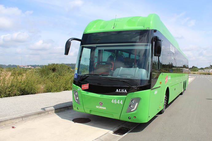 ALSA adquiere ocho nuevos autobuses GNC