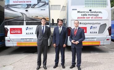Alsa y Mapfre se unen a la DGT en una campaña