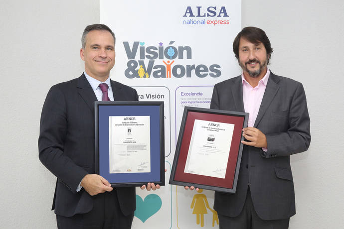 Alsa, certificado Aenor Compliance Penal y Seguridad de la Información
