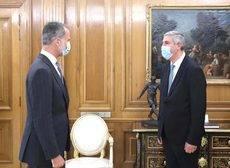 El Rey Felipe VI y el presidente de Anfac, José Vicente de los Mozos..