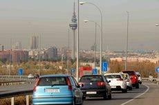 Vehículos ligeros entrando a Madrid