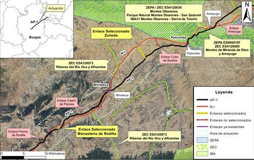 Mitma obtiene mejorará la AP-1 entre Burgos y Miranda de Ebro