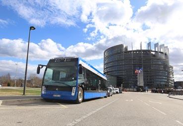 Aptis lleva 12 de sus eléctricos a Estrasburgo