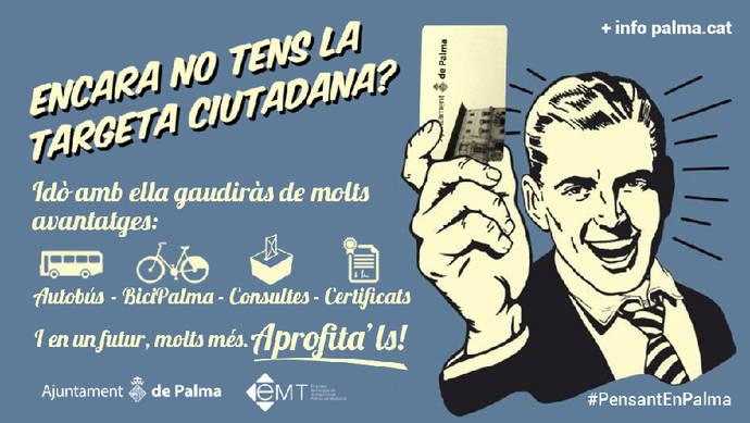 La tarjeta ciudadana se puede recargar en más de 200 puntos de Palma