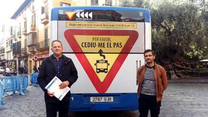 La EMT de Palma pone en marcha la campaña 'Por favor, cédeme el paso'
