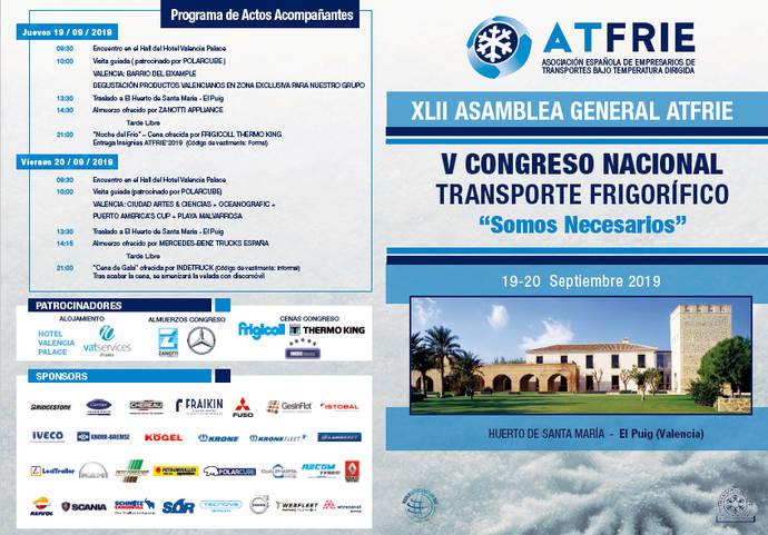 Atfrie presenta el díptico definitivo de su V Congreso Nacional de Transporte