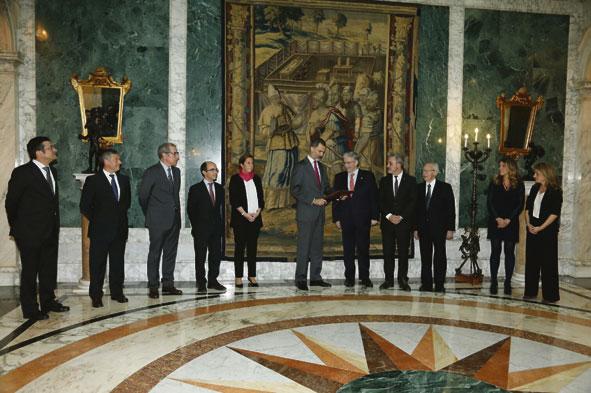 El rey recibe al Consorci de la Zona Franca de Barcelona