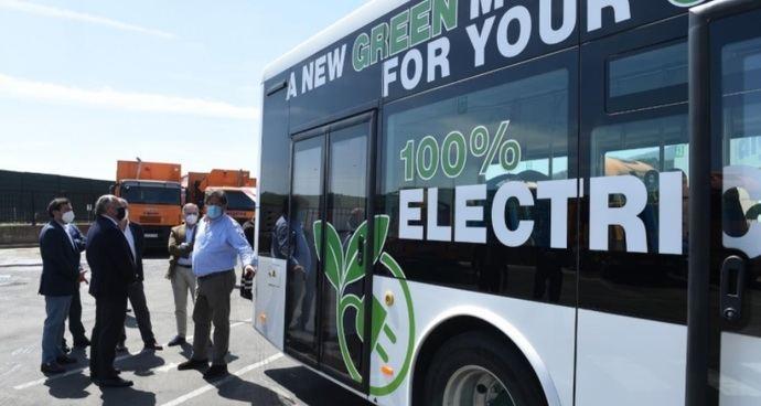 Un autobús eléctrico de Alfabus, a prueba en Algeciras