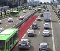 Avances en el carril BUS-VAO en la autovía A-2 en Madrid