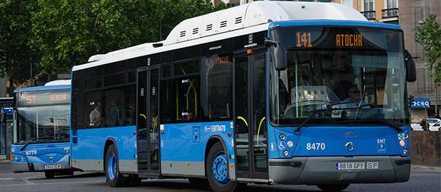 Madrid adapta el aforo máximo permitido en los autobuses de EMT