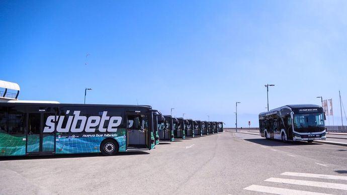 Málaga tendrá diez autobuses híbridos MAN de casi 19 metros