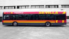 Los sevillanos son los que más utilizan el autobús en España