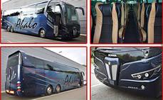 El autobús está carrozado sobre un bastidor Scania K450EB 6x2 Euro6.
