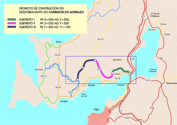 Proceso expropiatorio para la ejecución del segundo tramo de la autovía del Morrazo