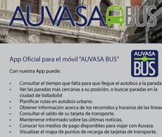 Auvasa presenta su 'app' oficial para móvil 'Auvasa bus'