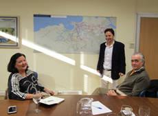 Una delegación de Valladolid visita las instalaciones Dbus