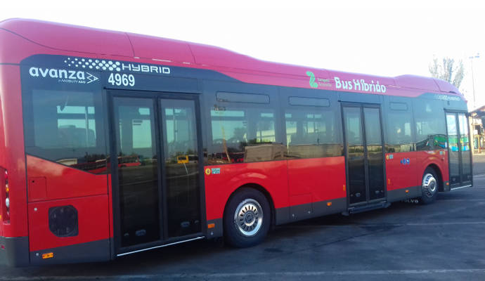 Cinco nuevos autobuses híbridos para la flota de Avanza Zaragoza
