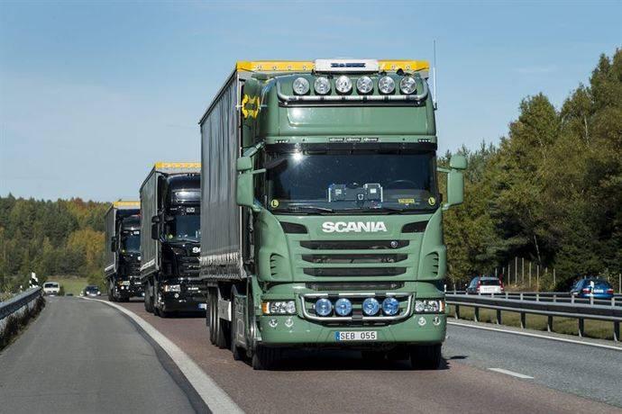 Scania se une a los primeros convoyes de transporte transfronterizo del mundo
